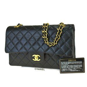 CHANEL CC Matelasse Double Flap Chain Shoulder Bag